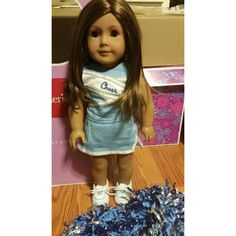 American Girl Just Like Me doll Original pleasant company doll, perfect condition. Includes her original outfit and cheerleading outfit and Pom poms. Brown hair brown eyes tan skin American Girl Other
