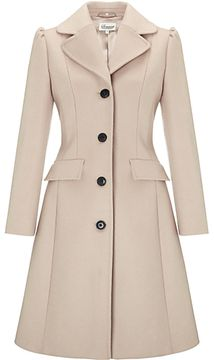 Somerset by Alice Temperley Fit and Flare Coat, Mink on shopstyle.co.uk