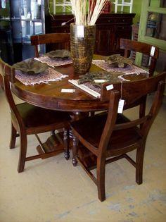 "48"" Round Pedestal Dining Table (HW1108) $709"
