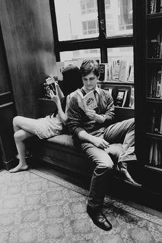 Couple. Reading.