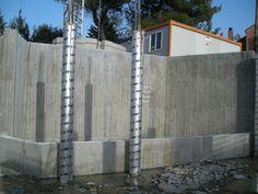 Cimentación y primeros pilares
