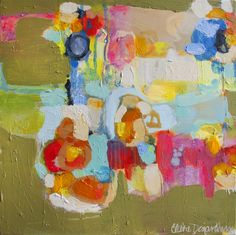 """""""Be There At Six"""" by Claire Desjardins - 24""""x24"""" - Acrylics on canvas.  #art"""