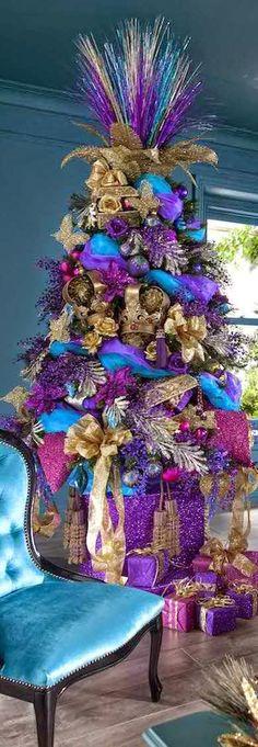 Purple and Teal Christmas Tree