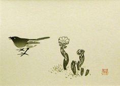 Keinen Imao (1854-1924) Bird & Cactus