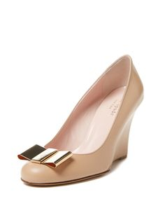 Kana Metal Bow Wedge from Pumps in Every Color on Gilt