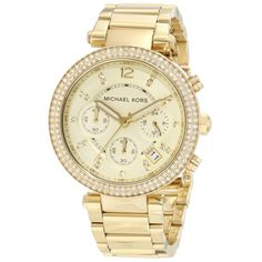 0d05dcd237fc Instantly add elegance and class to your look with this sleek gold watch  with crystal markers