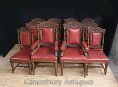 Oak Dining Chairs, Dining Set, Side Chairs, Manners, Hand Carved, Armchair, Carving, Antiques, House