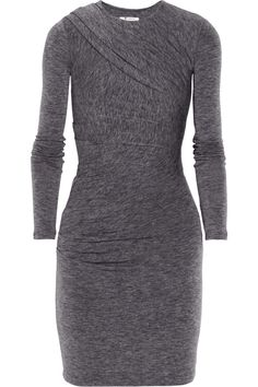 T by alexander wang Draped Jersey Dress in Gray | Lyst