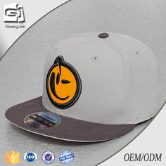 f844d99742f Guangjia orange embroidery hat for round face men snapback caps