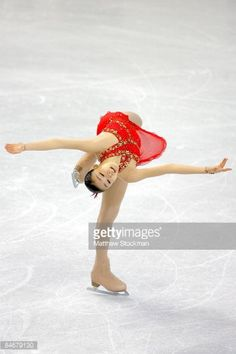 Figure skater Yu-Na Kim, from Korea, during her gold medal performance in the Ladies Free Skate during the ISU Four Continents Figure Skating Championships at Pacific Coliseum February 6, 2009 in Vancouver, Canada. (Photo by Christopher Morris/Corbis via Getty Images)