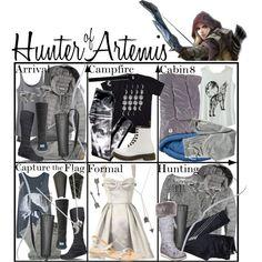 Hunter of Artemis ~ Wardrobe by liesle Percy Jackson Cabins, Percy Jackson Fandom, Fandom Fashion, Nerd Fashion, Punk Fashion, Lolita Fashion, Fashion Boots, Film Fashion, Disney Fashion