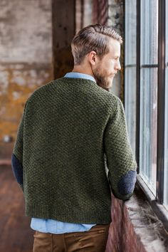 Elbow patches on sweater #menswear