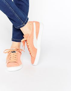 Puma+Coral+Suede+Basket+Trainers