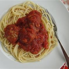 Spaghetti Sauce - Allrecipes.com see notes in e-mail & cut basil and oregano in half