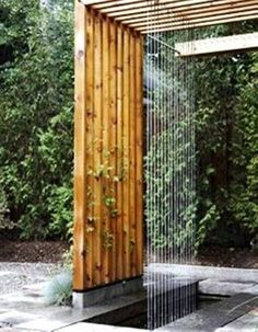 Modern Backyard Waterfalls