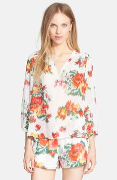Joie 'Axcel' Floral Print Silk Blouse available at #Nordstrom