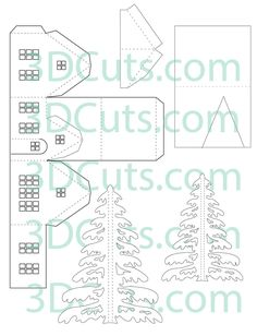 Tudor House Parts Box Houses, Putz Houses, Paper Houses, Cardboard Houses, Victorian Dollhouse, Modern Dollhouse, 3d Cuts, Paper Cutting Patterns, House Template