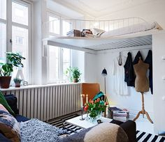 great space usage for a small studio apt.