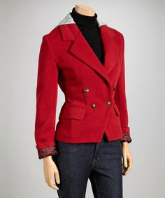 Another great find on #zulily! Red Hooded Blazer by Dollhouse #zulilyfinds