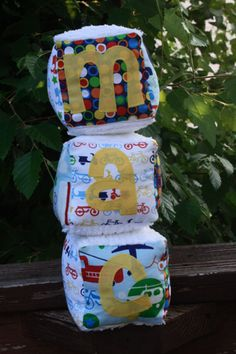 Baby block tutorial... Good idea for gifts!