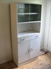 Vintage Metal Kitchen Hutch (Someday Mine Will Be Cleaned Up And Painted  Red) :