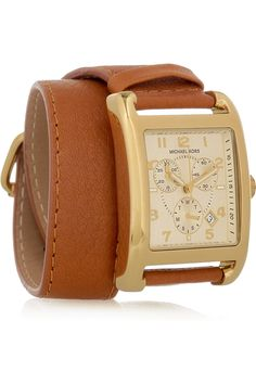 I'm so picky about watches but I love the wrap, the rectangular face, the color of the leather and the gold. i'm into it.