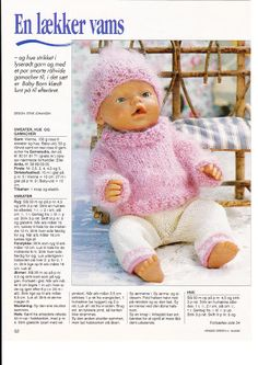 """Photo from album """"Одежда для Baby Born on Yandex. Baby Born Clothes, Girl Doll Clothes, Girl Dolls, Baby Dolls, Knitted Doll Patterns, Knitted Dolls, Crochet Dolls, Knitting Dolls Clothes, Doll Clothes Patterns"""