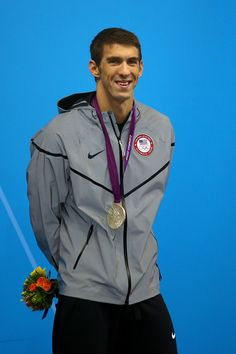 London 2012 Michael Phelps- Team USA Silver Medalist  Men's 200m Butterfly