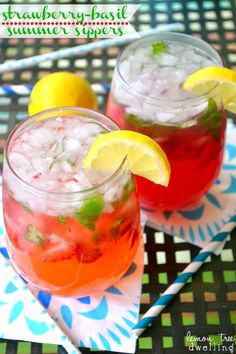 Strawberry-Basil Summer Sippers