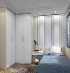 27 Small Bedroom Ideas Design Minimalist and Simple - Pandriva Small Bedroom Designs, Small Room Design, Wardrobe Design Bedroom, Closet Bedroom, Luxury Bedroom Furniture, Bedroom Decor, Bedroom Ideas, Small Rooms, Small Spaces