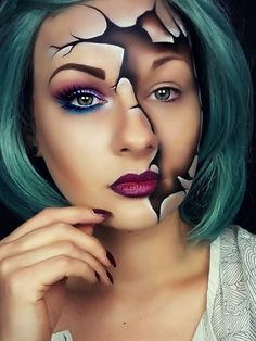 Your search for eerie and spooky ghost makeup ideas ends here. We have shortlisted the most popular Ghost makeup for Halloween. Ghost Makeup, Sfx Makeup, Costume Makeup, Face Makeup Art, Mask Makeup, Body Makeup, Makeup Kit, Makeup Brush, Eyeshadow Makeup