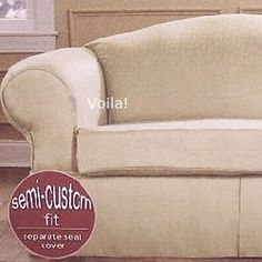 Sofa Slipcover Sakura Silk Flax Sure Fit Separate Seat Couch Cover