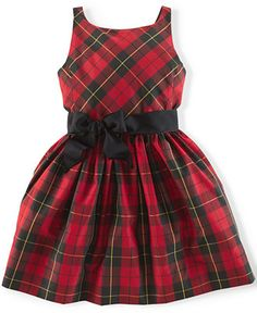 Ralph Lauren Girls' Taffeta Tartan Dress & other holiday party dresses