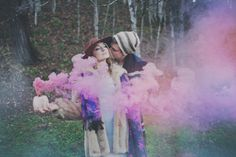 colored smoke // photo by Sassyfras Studios smoke bomb photo Gypsy Wedding, Wedding Pics, Wedding Shoot, Dream Wedding, Wedding Ideas, Wedding Images, Wedding Stuff, Smoke Bomb Photography, Couple Photography