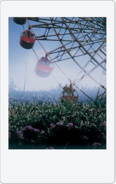 Ferris wheel on Instax Mini 90 double exposure by Ichigo Amaki