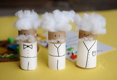 Einstein toilet paper rolls - also lots of fun science project ideas