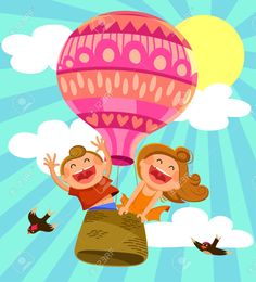 hot air balloons animated - Google Search