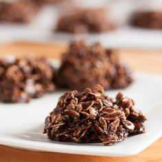 These no-bake chocolate macaroons are dense and fudgy and loaded with chewy oats and coconut.