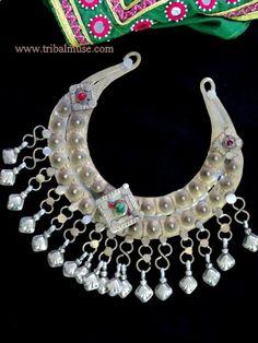 Vintage Afghan Kuchi Tribal Torc Necklace