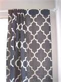 Nautical Lux... Lattice Quatrefoil - Gray - Rod Top - Curtains - Panel - Designer