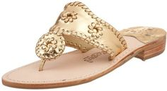 """Jack Rogers Gold Hamptons Sandal-  for the """"gold digger"""" in every girl."""