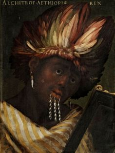 Firenze, Galleria degli Uffizi, Cristofano dell'Altissimo (Florence, 1525-1605) was not one of the great masters of painting: after studying under Bronzino and Pontormo, he created portraits that are known to be almost exclusively copies of other artists' works. Or even copies of other copies. Serie Gioviana, Alchitrof, re d'Etiopia - Florence, Giovio Series, king of Ethiopia #TuscanyAgriturismoGiratola