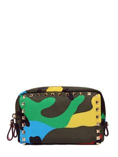 Valentino Psychedelic Camo Printed Make-Up Bag on shopstyle.com