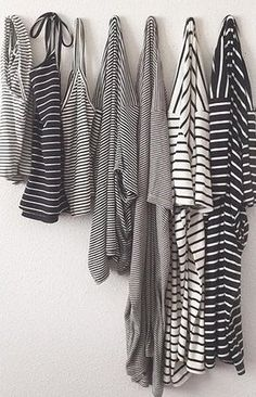 this looks like my wardrobe - i love stripes How To Have Style, Style Me, Mode Simple, Inspiration Mode, Mode Outfits, Trendy Outfits, Mannequins, Dress Me Up, Look Fashion
