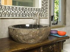 Rocks For Bathroom Sink : ... stone sinks and tubs on Pinterest Natural stones, Stone sink and