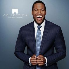 nice Michael Strahan companions with JCPenney to introduce males's clothes line Mens Clothing Lines, Boy Fashion, Mens Fashion, Black Suit Men, Michael Strahan, Blue Suede Shoes, African American Men, New York Giants, Black Media