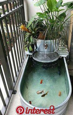New house pond - balcony decoration - conservatory ideas- Neuer Hausteich – Balkondekoration – Wintergarten Ideen New house pond – balcony decoration / # Balcony decoration pond garden decorations -