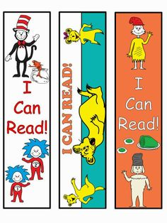 Free:  Dr. Seuss Bookmarks.  For Educational Purposes Only....Not For Profit.  Freebie For A Teacher From A Teacher! Enjoy! Regina Davis AKA Queen Chaos at www.fairytalesandfictionby2.blogspot.com