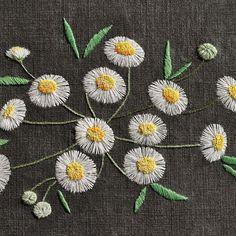 #야생화자수 #개망초 #꿈소 #꿈을짓는바느질공작소  #자수 #자수타그램 #embroidery #handembroidery…