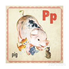 Vintage ABC- P Giclee Print at AllPosters.com